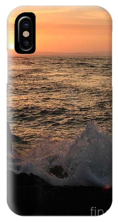 Splash IPhone X Case featuring the photograph Sunset Splash by Idaho Scenic Images Linda Lantzy