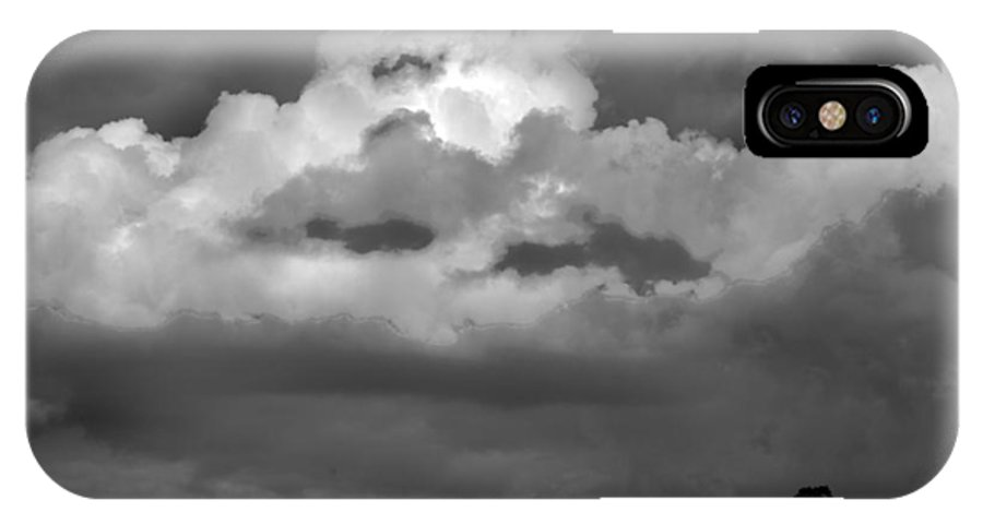 Western Scenes IPhone X Case featuring the photograph Sunset Storm Clouds by Norman Andrus