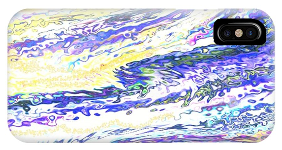 Sun IPhone X Case featuring the digital art Sunset-sun And Sea Meeting by Dr Loifer Vladimir