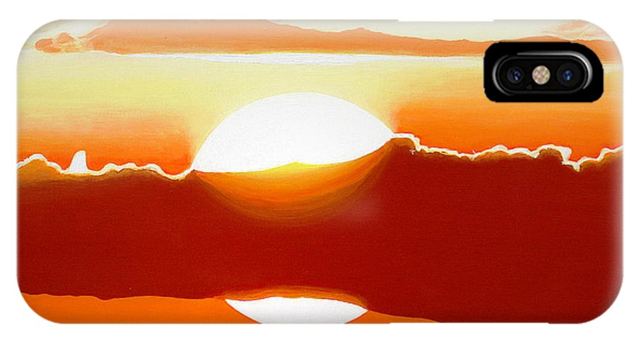 Painting IPhone X Case featuring the painting Sunset The Mood by Pierre Leclerc Photography