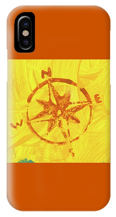 IPhone X Case featuring the painting Sunshine Directions by Kelly Pratt