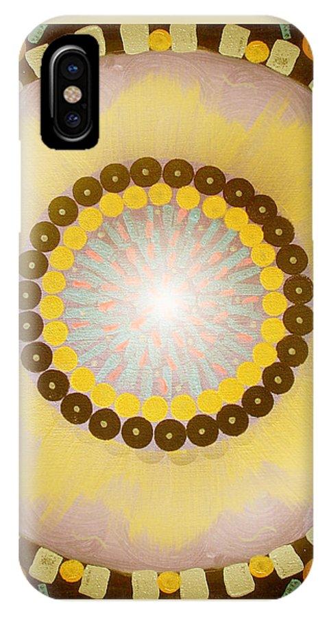 Mandala IPhone X Case featuring the painting Sunshine Mandala by Gina De Gorna