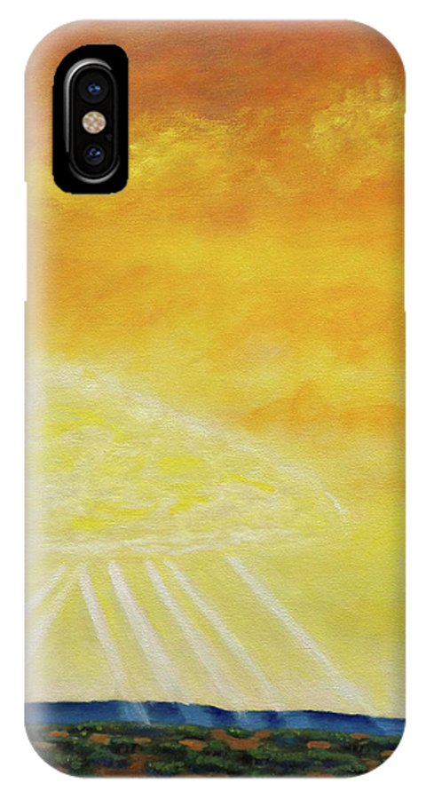 Landscape IPhone Case featuring the painting Super Seven by Brian Commerford