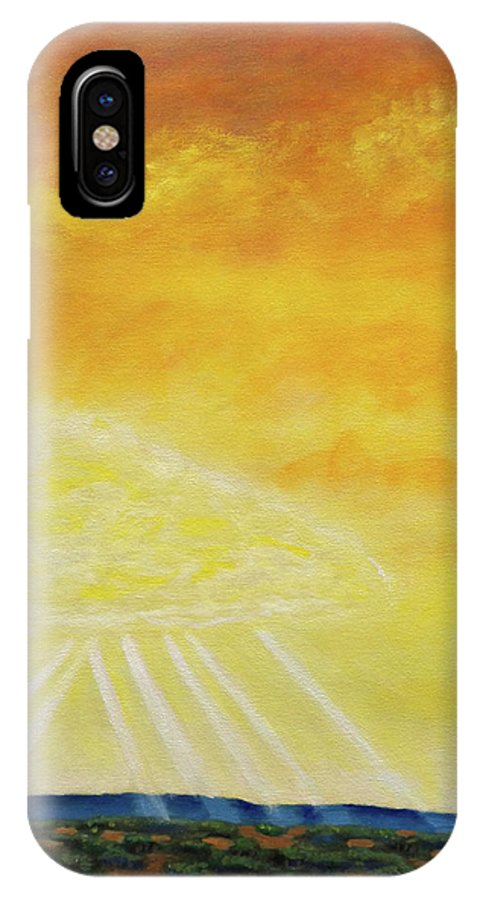 Landscape IPhone X Case featuring the painting Super Seven by Brian Commerford