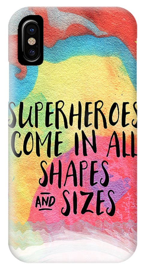 Inspirational IPhone X Case featuring the painting Superheroes- Inspirational Art By Linda Woods by Linda Woods