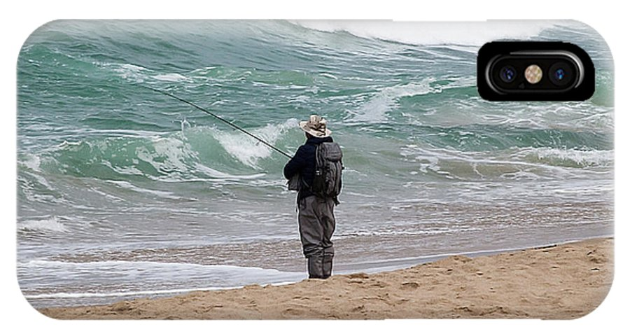 Fish IPhone X / XS Case featuring the photograph Surf Fishing by Jay Billings