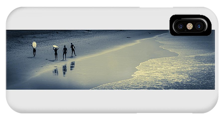 Ocean IPhone X Case featuring the photograph Surfers Heading Home by Bette Levine