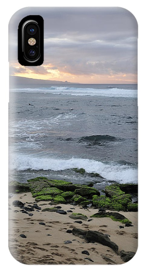 Sunset IPhone X Case featuring the photograph Surfing Sunset by Andy Smy