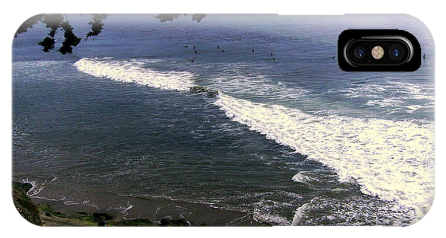 Surfing IPhone X Case featuring the photograph California Surfers by Rick Maxwell