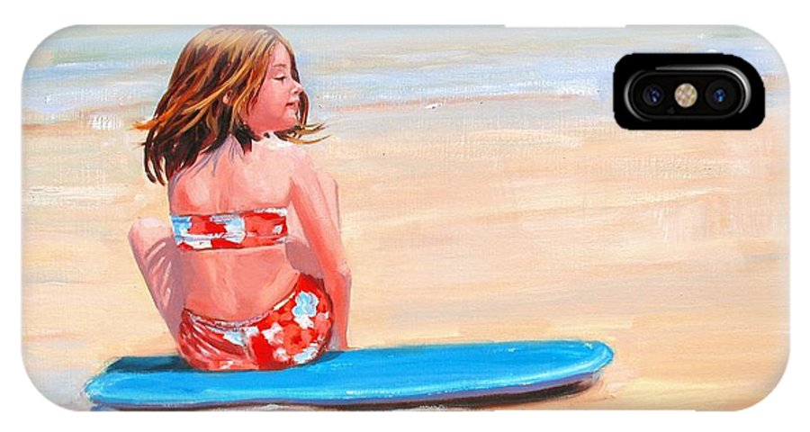 Oil Painting IPhone Case featuring the painting Surfside by Laura Lee Zanghetti