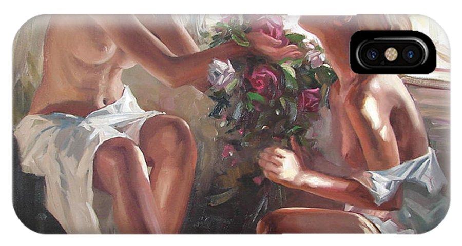 Ignatenko IPhone X Case featuring the painting Surprise by Sergey Ignatenko