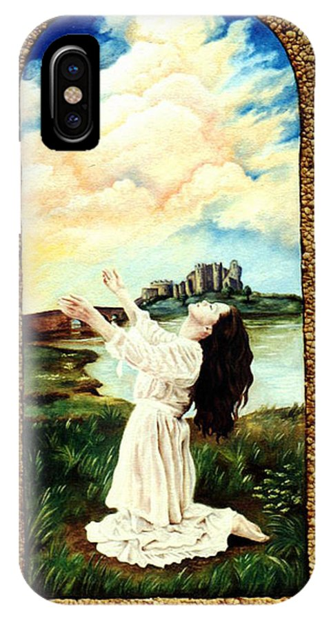 Christian IPhone X Case featuring the painting Surrender by Teresa Carter