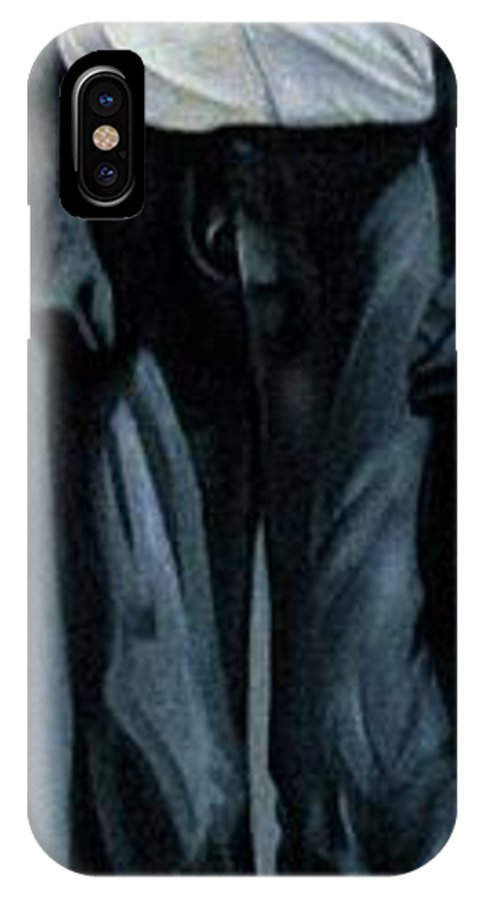 Slavery IPhone X Case featuring the painting Survivor Spirit Albert by Joyce Owens
