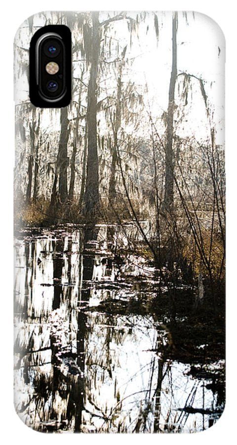Trees; Landscape IPhone X Case featuring the photograph Swamps Of Louisiana 5 by Sally Mellish