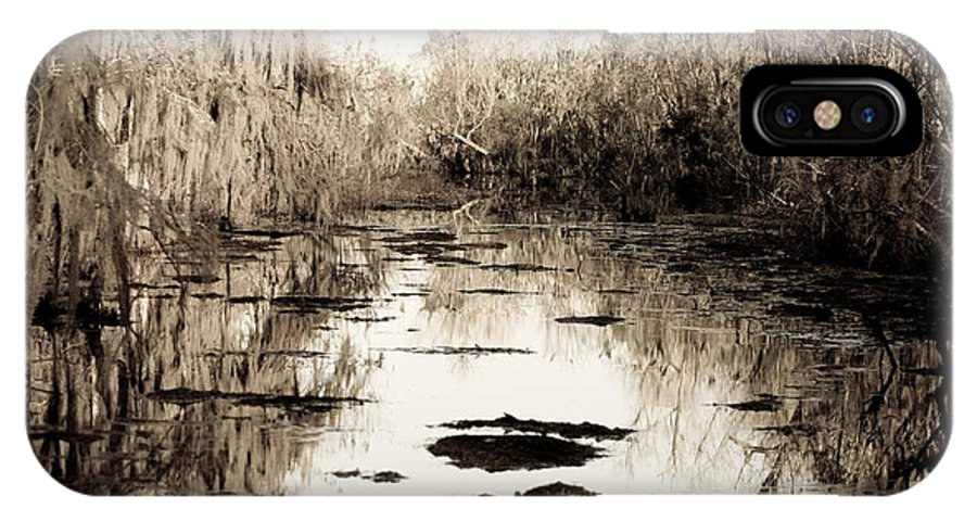 Trees; Landscape IPhone X Case featuring the photograph Swamps Of Louisiana 6 by Sally Mellish