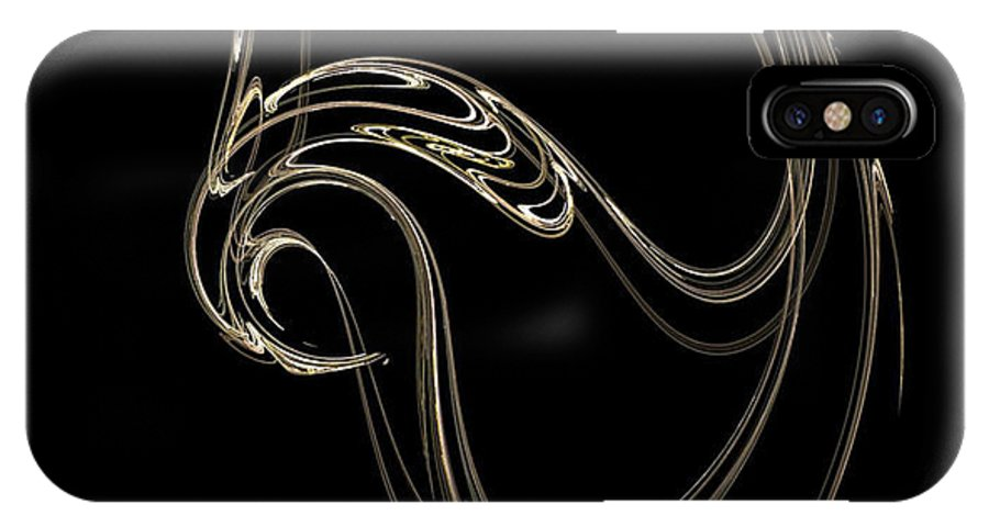 Fractals IPhone X Case featuring the digital art Swan Dance by Richard Rizzo