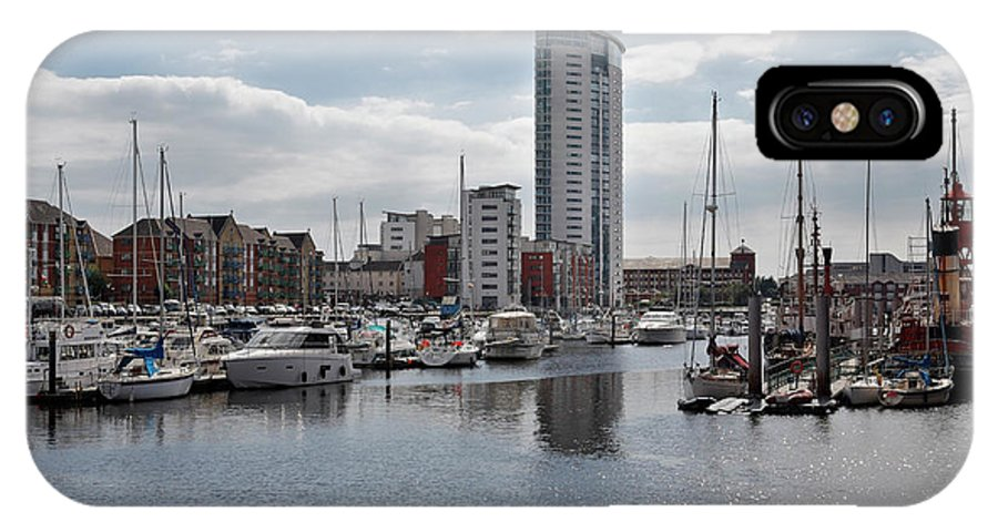 Swansea IPhone X Case featuring the photograph Swansea Marina by Kevin Round