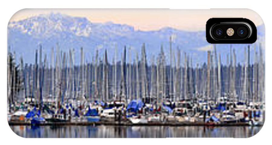 Landscape IPhone X Case featuring the photograph Swantown Marina Olympia Wa by Larry Keahey