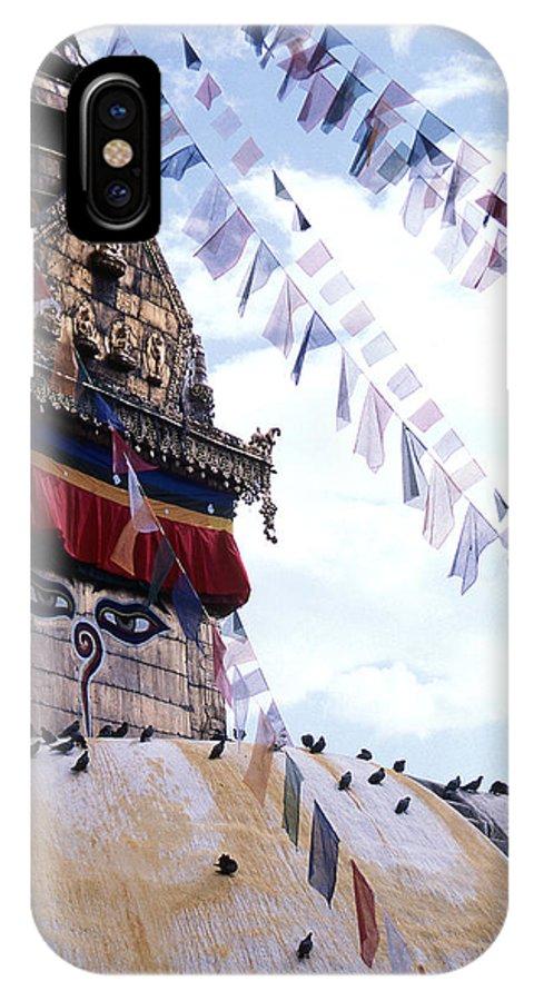 Swayambhunath Stupa IPhone Case featuring the photograph Swayambhunath II by Patrick Klauss