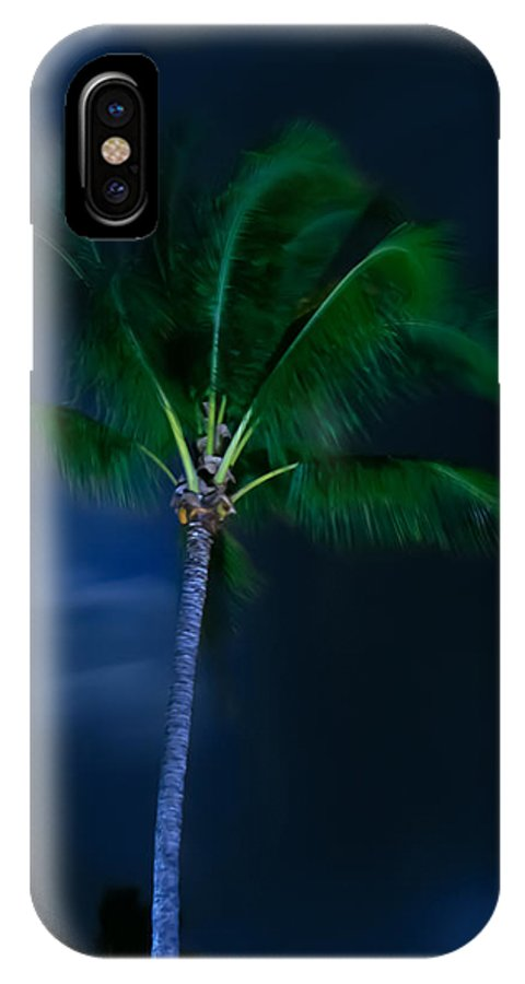 Palm Trees IPhone X Case featuring the photograph Swaying Palm Tree by Roger Mullenhour
