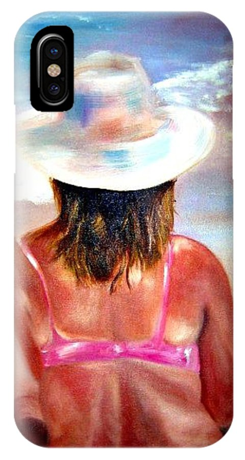 Beach IPhone X Case featuring the painting Sweet Child Of Mine by Sandy Ryan