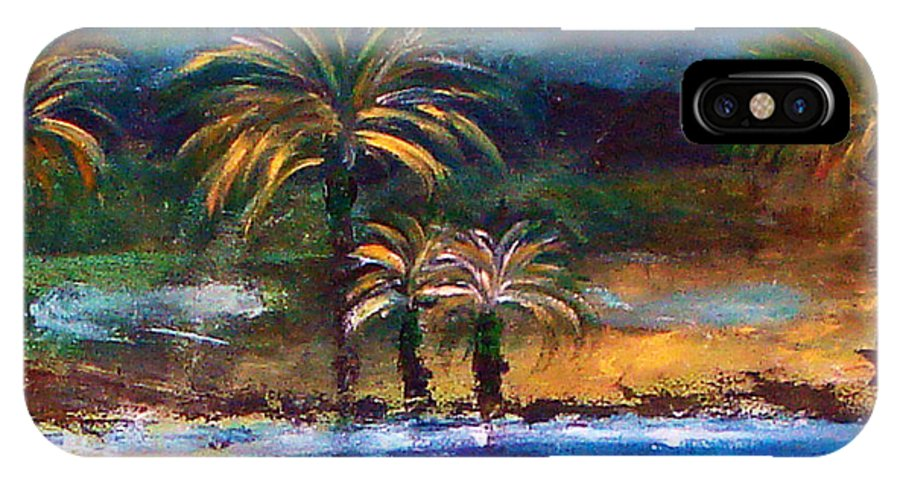 Acrylic Painting IPhone X Case featuring the painting Sweet Escape by Yael VanGruber