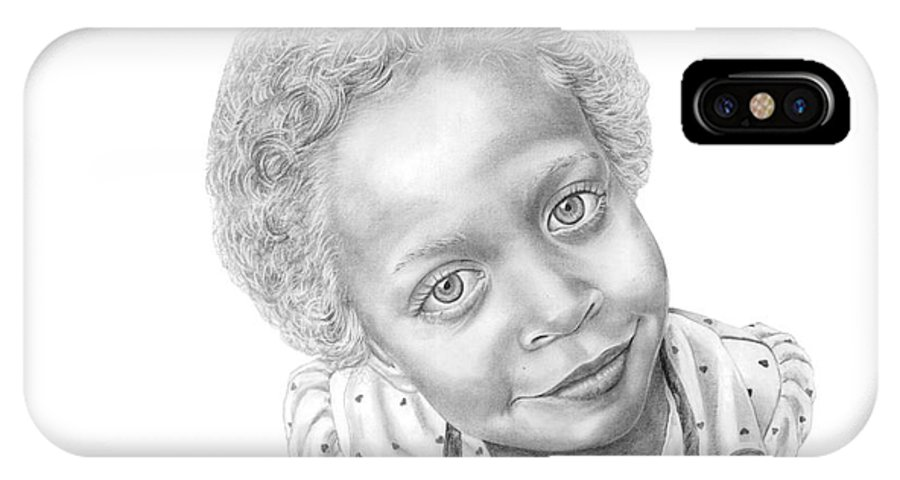 Portrait IPhone Case featuring the drawing Sweet Eyes by Murphy Elliott