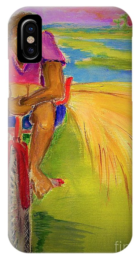 Sweet Grass IPhone X Case featuring the painting Sweet Grass by Carliss Prosser