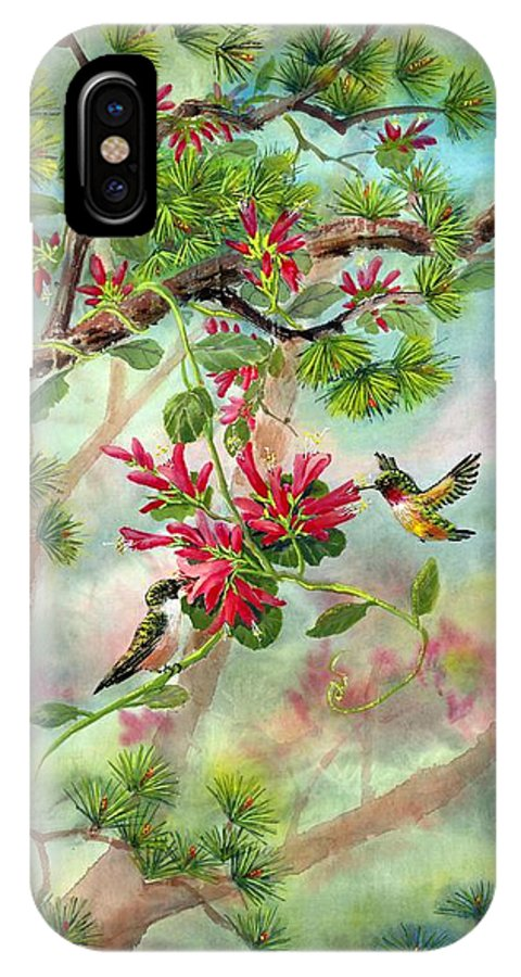 Hummingbirds IPhone Case featuring the painting Sweet Journey by Eileen Fong