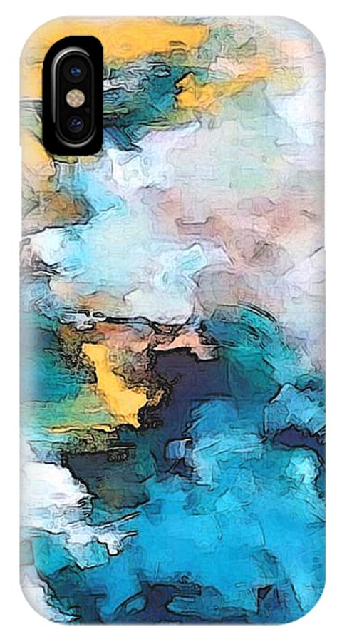 Abstract IPhone X Case featuring the digital art Sweet Memory Shades by Linda Mears