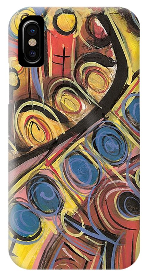 Abstract Painting IPhone X Case featuring the painting Sweet Music by Americo Salazar