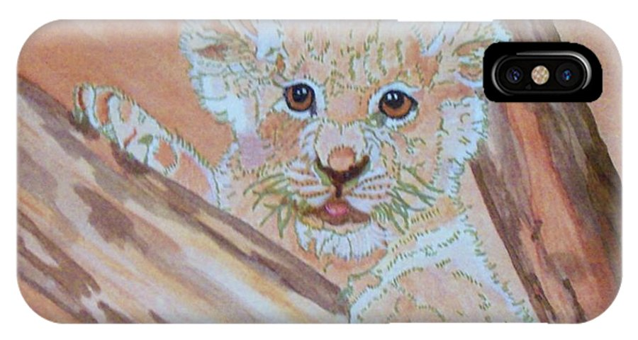 Nature IPhone X Case featuring the painting Sweet One by Connie Valasco