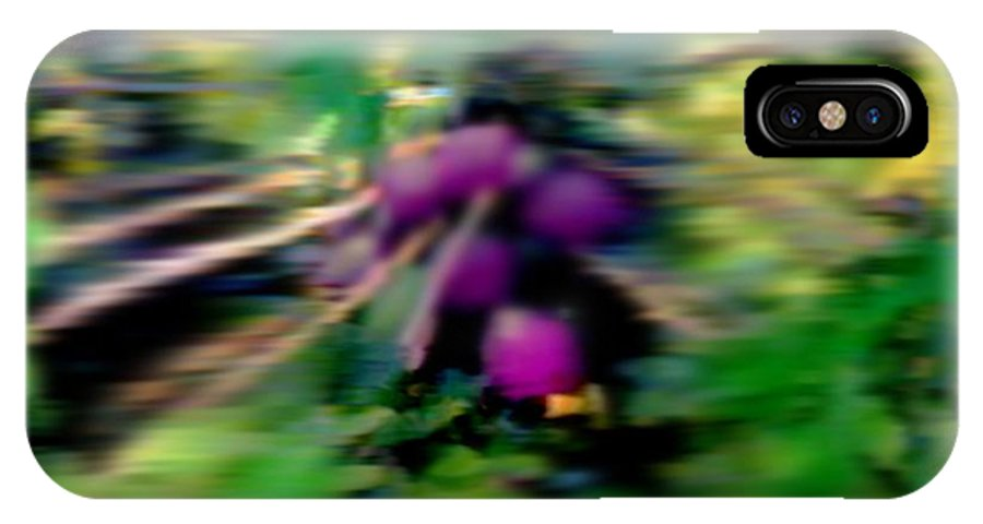 Morning IPhone X Case featuring the digital art Sweet Papaya Morning by Dr Loifer Vladimir