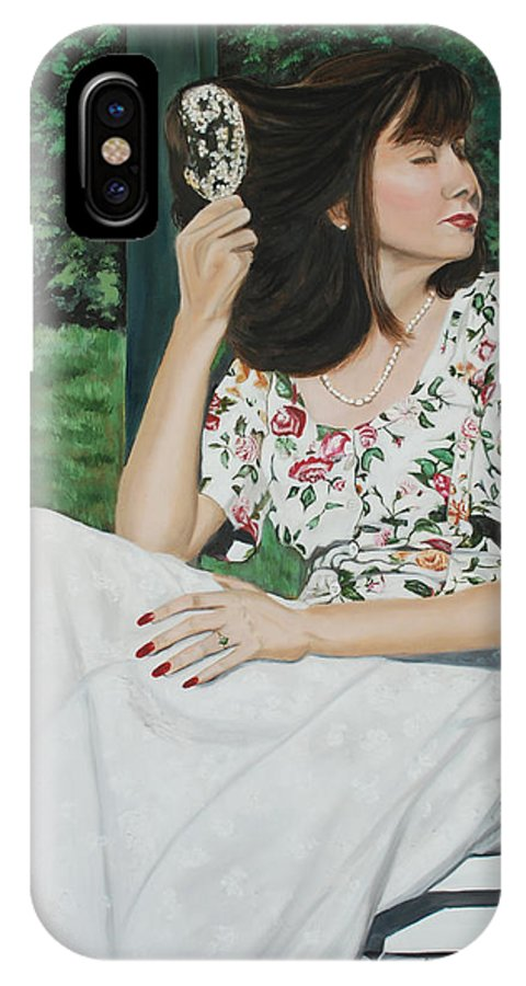 Garden IPhone Case featuring the painting Sweet Spring Day by Margaret Fortunato