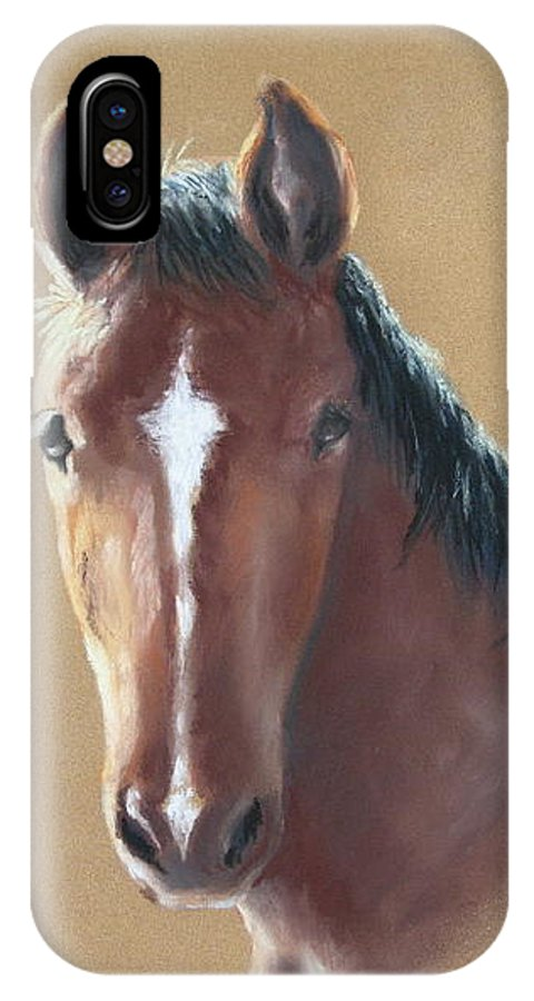 Horse IPhone X Case featuring the painting Sweetie by Carol Mueller