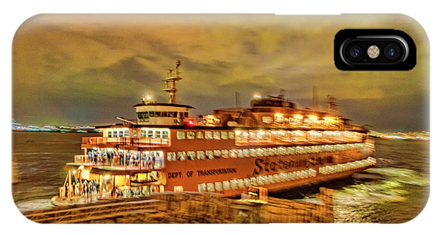 Staten Island Ferry IPhone X Case featuring the photograph Swing The Tail by S Paul Sahm