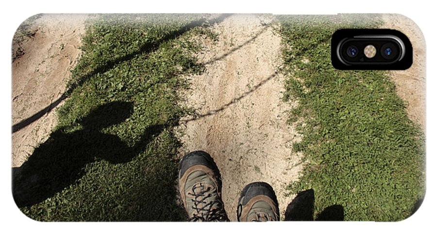 Feet IPhone X / XS Case featuring the photograph Swinging Shadows by William Kuta