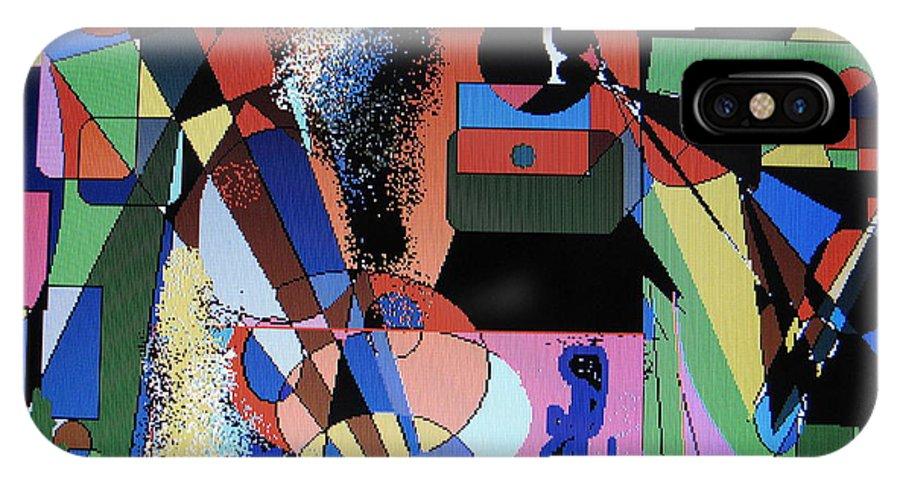 Jazz IPhone X Case featuring the digital art Swinging Trio by Ian MacDonald