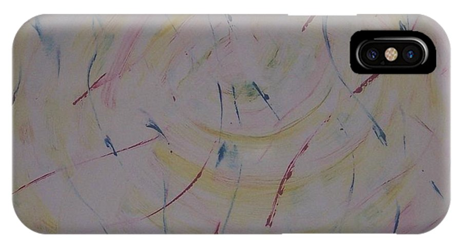 Swirl IPhone X Case featuring the painting Swirl by Emily Young