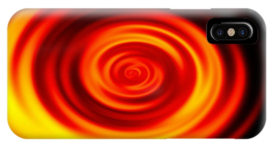 Swirled IPhone X Case featuring the digital art Swirled Sunrise by Rhonda Barrett