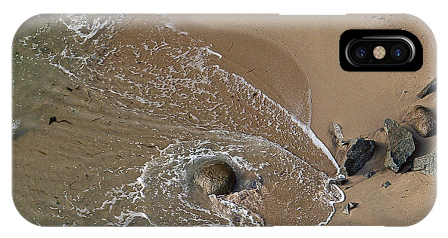 Big Sur IPhone X Case featuring the photograph Swirling Surf And Rocks by Charlene Mitchell