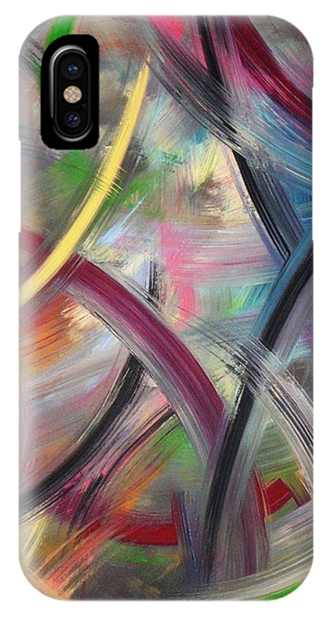 Acrylic IPhone X Case featuring the painting Swish by Todd Hoover