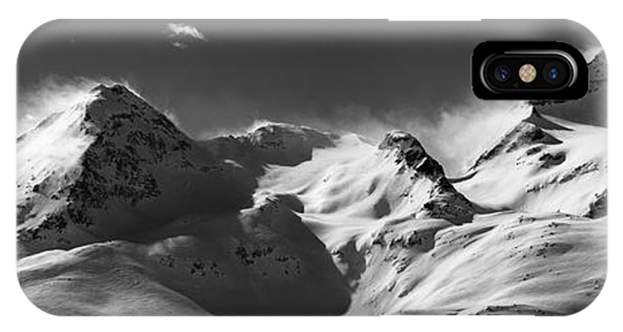 Alps IPhone X / XS Case featuring the photograph Swiss Alps by Marc Huebner
