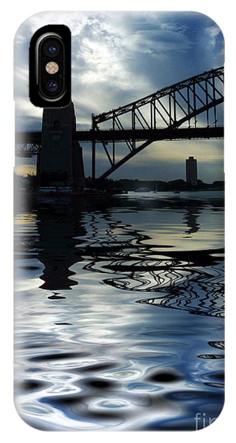 Sydney Harbour Australia Bridge Reflection IPhone X / XS Case featuring the photograph Sydney Harbour Bridge Reflection by Sheila Smart Fine Art Photography