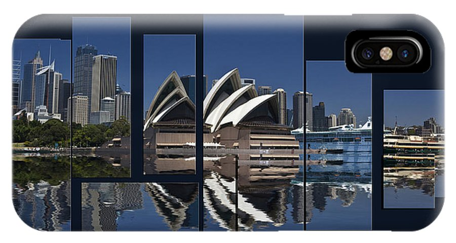 Sydney Harbour IPhone X Case featuring the photograph Sydney Harbour Collage by Sheila Smart Fine Art Photography