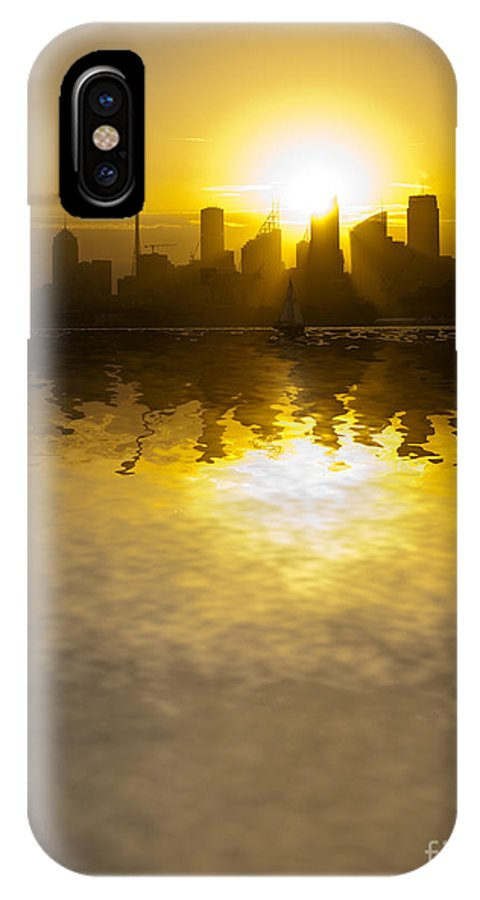 Sydney Harbour Sunset IPhone X Case featuring the photograph Sydney Harbour Sunset Abstract by Sheila Smart Fine Art Photography