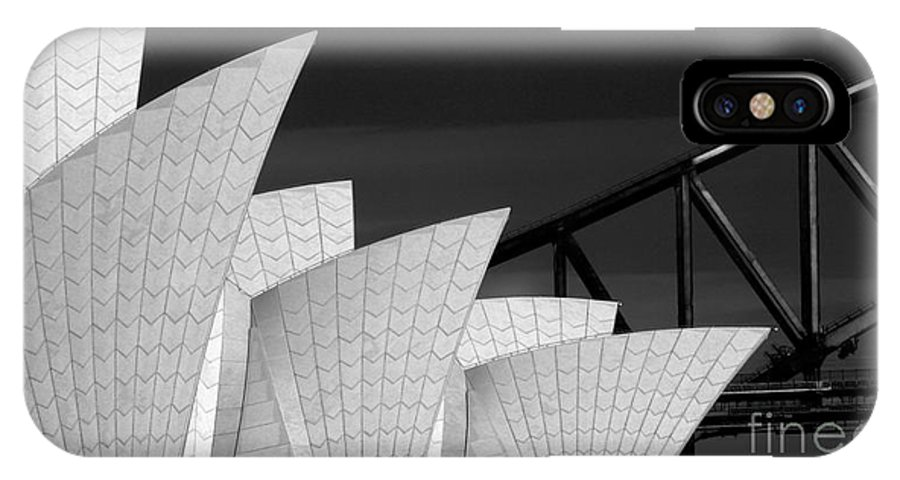 Sydney Opera House IPhone X Case featuring the photograph Sydney Opera House with bridge backdrop by Sheila Smart Fine Art Photography