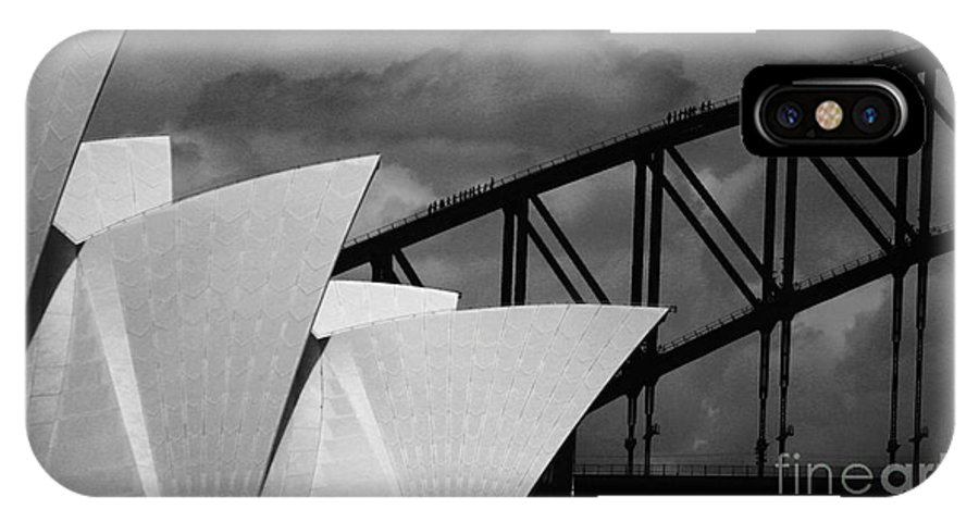 Sydney Opera House IPhone X Case featuring the photograph Sydney Opera House With Harbour Bridge by Sheila Smart Fine Art Photography