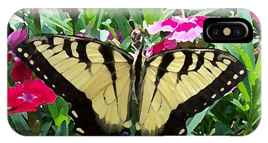 Swallowtail IPhone X Case featuring the photograph Symmetry by Sandi OReilly