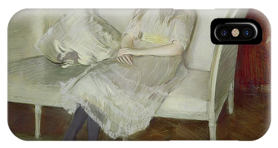 Symphony IPhone X Case featuring the painting Symphony In White by Paul Cesar Helleu